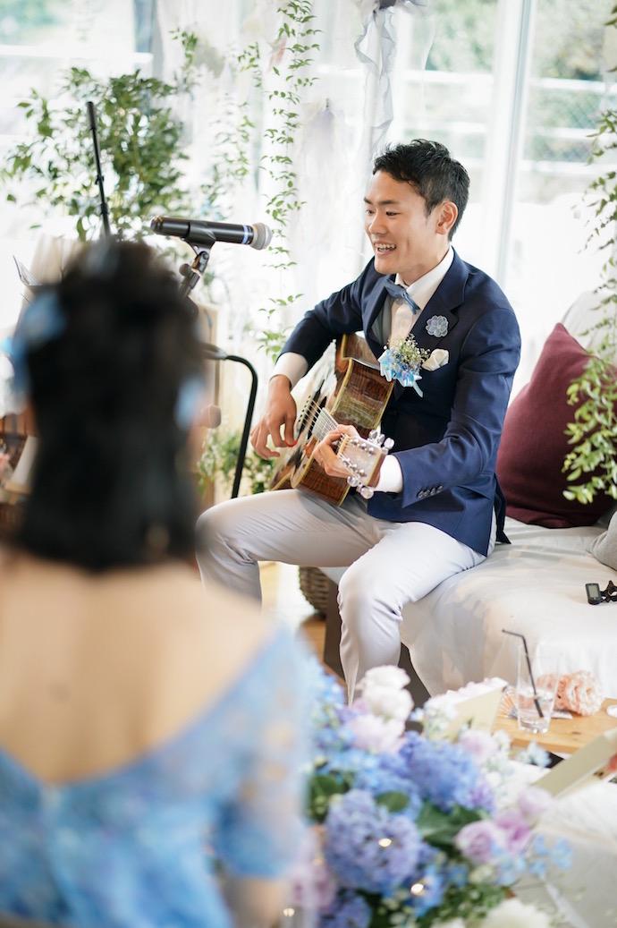 結婚式終盤~彼からの感動のサプライズ